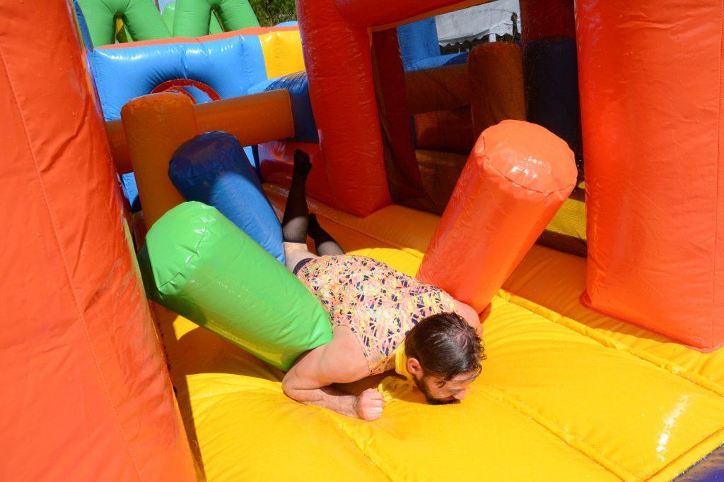 Enterrement de vie de garçon Olympiades gonflables